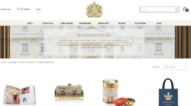 Boutique en ligne Buckingham Palace