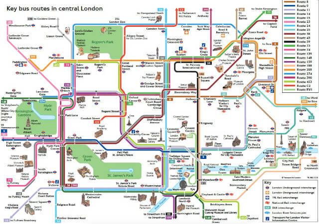 Plan Bus Londres