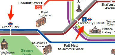 Plan Bus Metro Londres