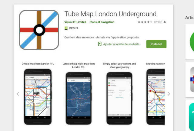 plan metro londres android