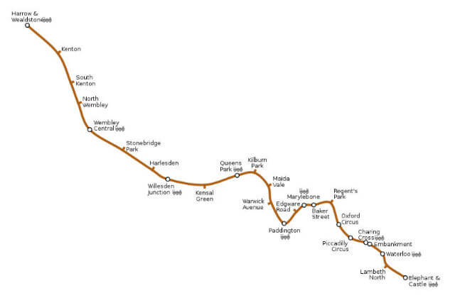 Plan Bakerloo Line