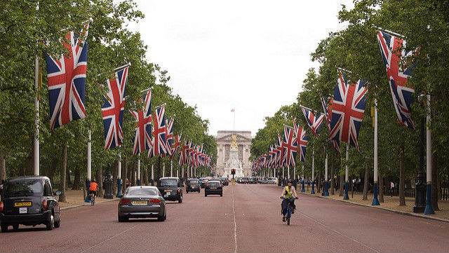 The Mall dans le quartier de Buckingham Palace