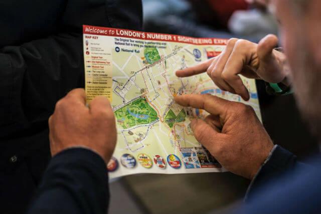 plan pour visite de Londres