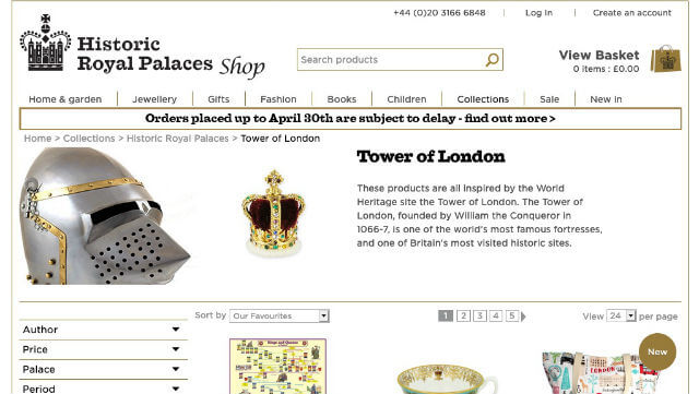 Boutique en ligne officielle de la Tour de Londres