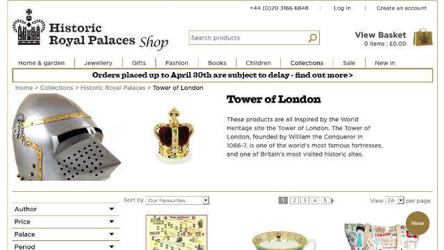 Boutique en ligne officielle de la Tour de Londres