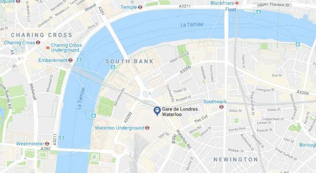Plan Gare Waterloo Londres
