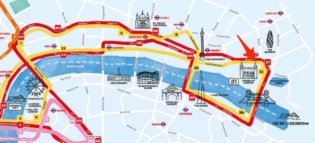 Plan Bus touristique Tower of London