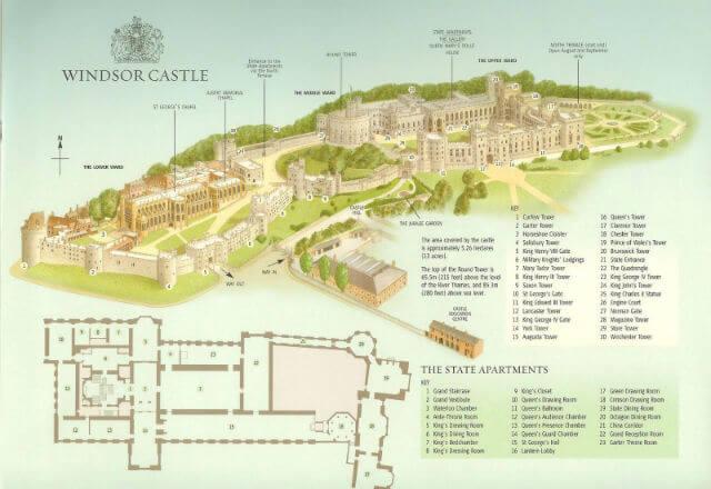 Plan du Château de Windsor