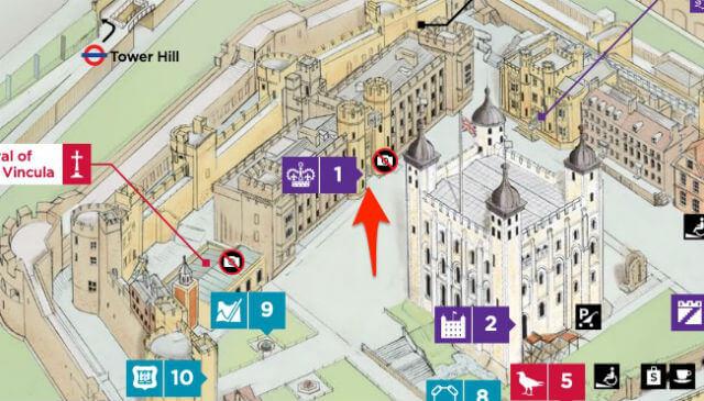 Plan Joyaux de la Couronne Londres