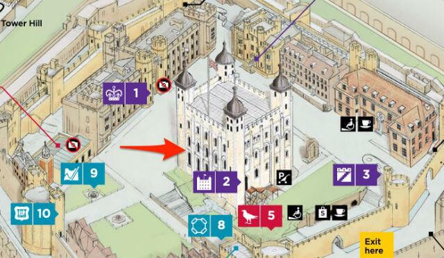 Plan Tour Blanche Tour de Londres