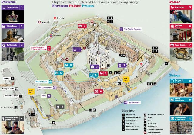 Plan Tour de Londres