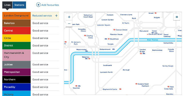 Etat Reseau Metro Londres