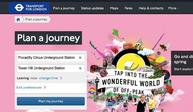 Itineraire Metro Londres