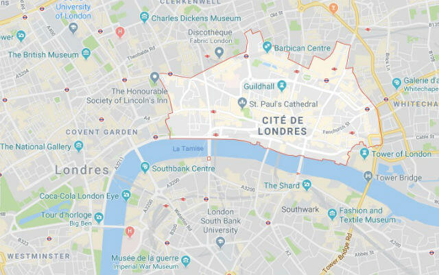 Plan Quartier La City Londres