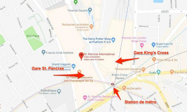 Station metro gare st pancras