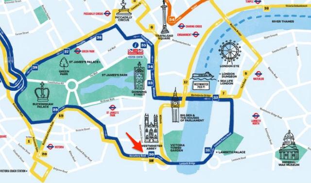 Bus touristique Abbaye Westminster