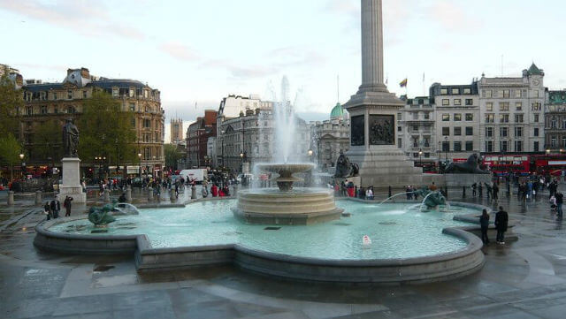 Trafalgar Square Fontaine