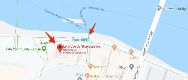 Bankside Pier Shakespeare Globe Theatre