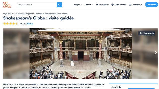 Shakespeare Globe Theatre Billet Ticket