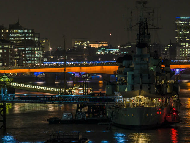 HMS Belfast nuit photo