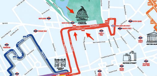 Bus touristique Madame Tussauds Londres