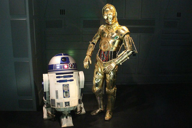 R2D2 et C3PO Star Wars Madame Tussauds
