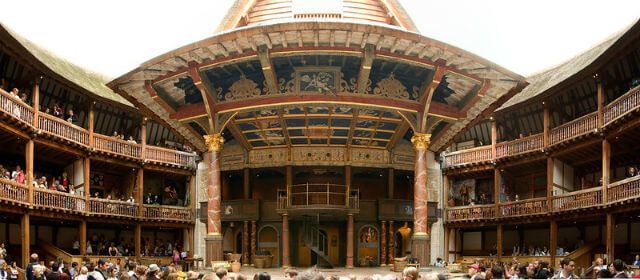 Shakespeare Globe Theatre Interieur