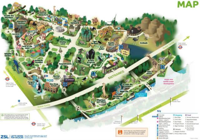 Zoo Londres Plan