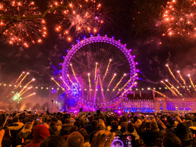 London Eye Feu Artifice Nouvel An