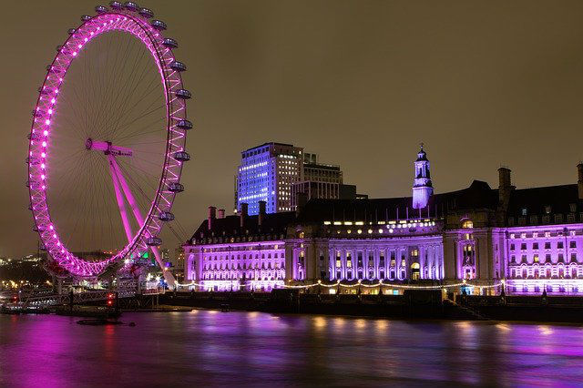 London Eye nuit