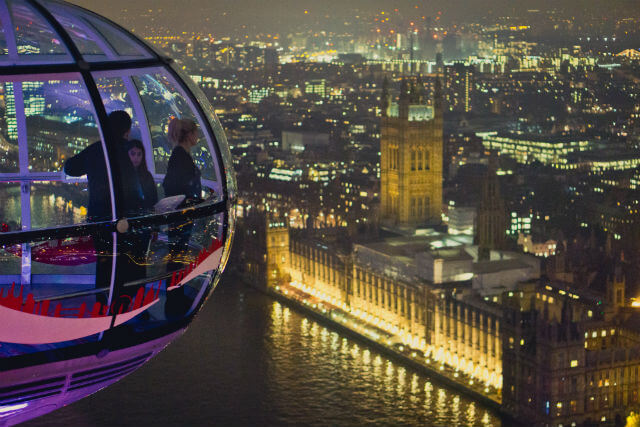 London Eye vue nuit