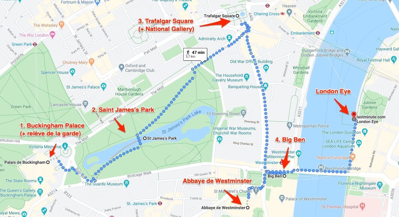 Londres en 4 jours programme jour 1