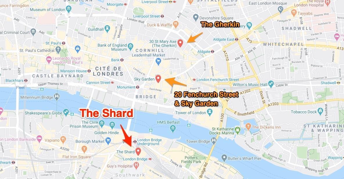 The Shard autres immeubles
