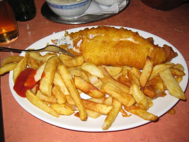Un Fish and Chips traditionnel au Master Super Fish