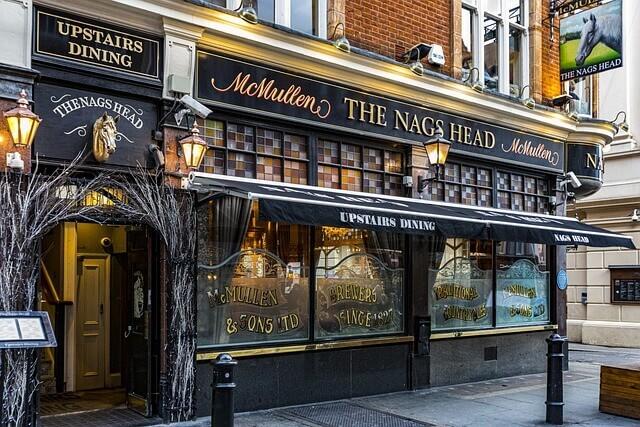 The Nags Head dans le quartier de Covent Garden
