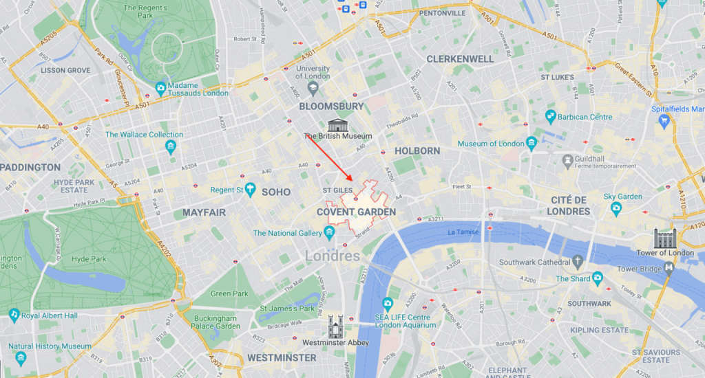 Carte Covent Garden Londres