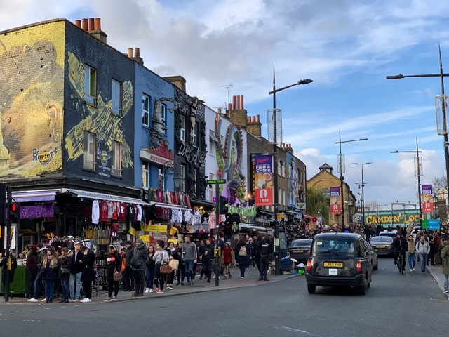Façades boutiques Camden High Street