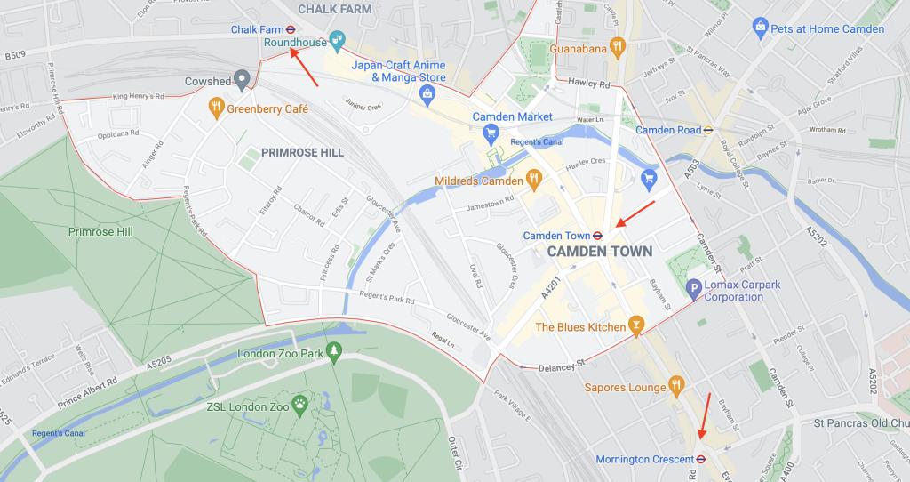 Stations de métro Camden Town